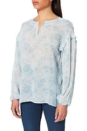 Herrlicher Damska bluzka Fabienna z wiskozy Crepe Georżette, Iced 136, XL