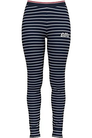 Odlo Damskie Active Warm Originals ECO Baselayer spodnie, ciemnoszafirowe srebrne szare, jeden rozmiar