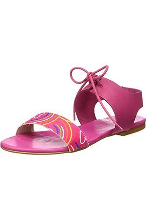 Agatha Ruiz de la Prada Damskie sandały Agatha 114 Wedge, Fucsia Corazones - 37 EU