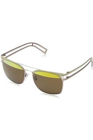 Police Okulary przeciwsłoneczne dla dzieci SK536 Neymar Jr 7 Wayfarer, Brąz i szampan ramka/Gold Mirror & Brown Split Lens