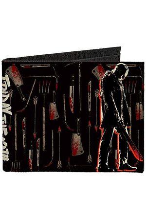 Buckle Klamra w dół - podwójnie składany portfel - zapinany na zamek dwustronny portfel piątek 13 Jason męski