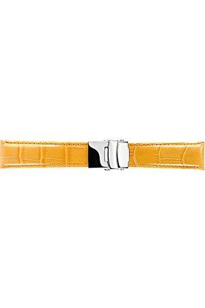 Morellato Bransoletka skórzana do zegarka męskiego TIPO żółta 20 mm A01U3084656286CR24