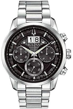 BULOVA Męski analogowy zegarek kwarcowy z bransoletką ze stali szlachetnej 96B319