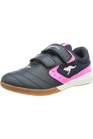 KangaROOS Damskie buty typu sneaker K5-Court V, - Dk Navy Neon Pink - 39 eu
