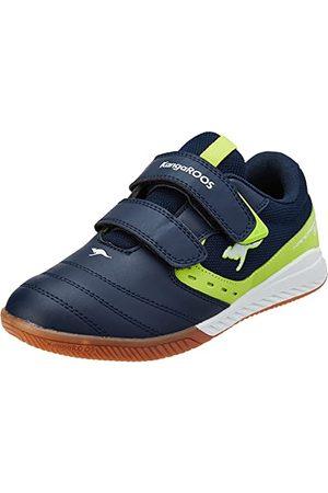 KangaROOS Unisex K5-Court V Sneaker, - Dk Navy Lime - 36 EU