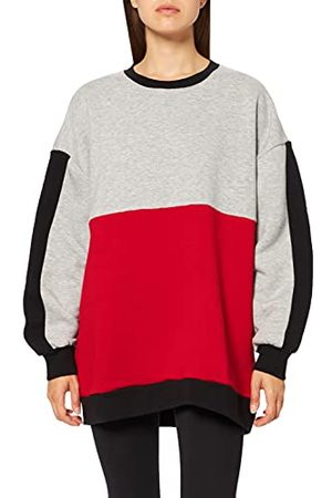 LTB Damski sweter Rawexo, Grey Mel Crimson Black Block 12390, XXL