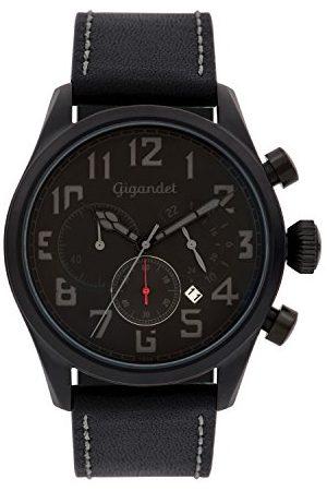 Gigandet Zegarek męski chronograf mechanizm kwarcowy ze skórzanym paskiem Interceptor G4-007