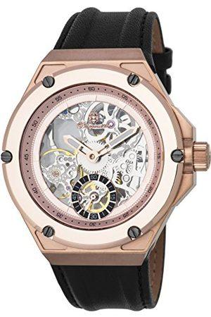 Burgmeister Męski datownik klasyczny zegarek mechaniczny ze skórzanym paskiem BM232-302