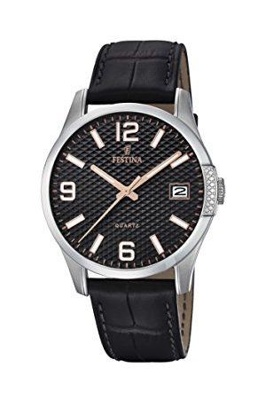 Festina Męski analogowy zegarek kwarcowy ze skórzanym paskiem F16982/3