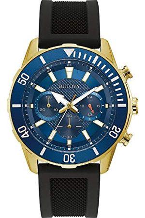 BULOVA Męski zegarek kwarcowy chronograf z silikonowym paskiem 98A244