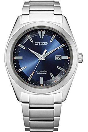 Citizen Męski analogowy zegarek Eco-Drive z bransoletką Super Titanium AW1640-83E