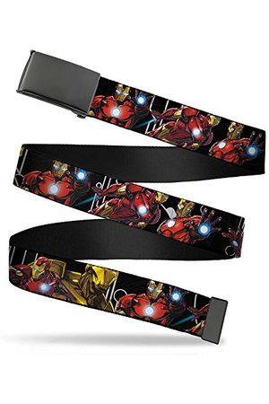"""Buckle-Down Chłopięcy pas Web Belt Iron Man 1,25"""" pasek, wielokolorowy, 3 cm szerokości - pasuje na górze - 107 cm rozmiar spodni"""