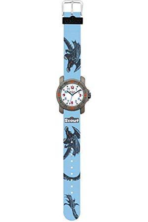 Scout Zegarki chłopięce analogowy kwarcowy zegarek z paskiem tekstylnym 1