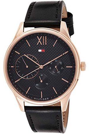 Tommy Hilfiger Męski multicyferblat kwarcowy zegarek ze skórzanym paskiem 1791419
