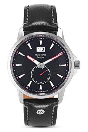 Soehnle Bruno Söhnle męski analogowy kwarcowy zegarek ze skórzanym paskiem 17-13158-741