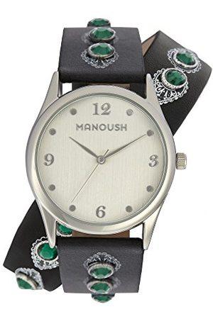 Manoush Unisex analogowy zegarek kwarcowy z paskiem PU MSHDI02