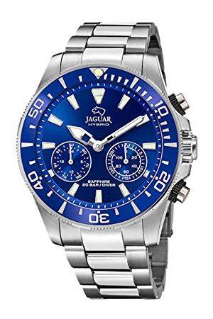 Jaguar Mężczyzna Zegarki - J888/1 Collection Connected zegarek na rękę, 45,7 mm, niebieska obudowa ze stalowym paskiem