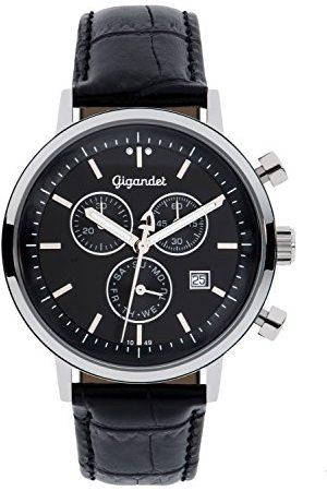 Gigandet Mężczyzna Zegarki - Classico męski zegarek na rękę chronograf kwarcowy analogowy pasek skórzany G6-004