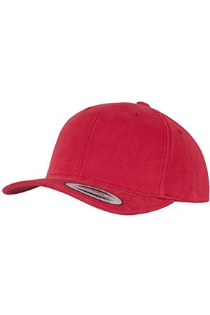 Flexfit Unisex Brushed Cotton Twill Mid-Profile Kappen Red, One Size