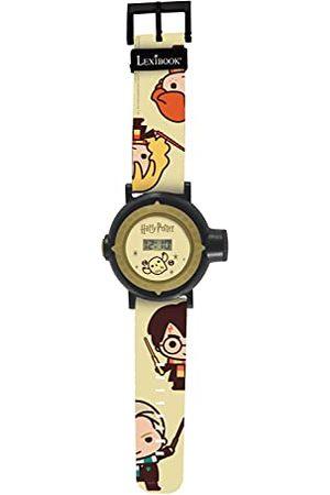 Lexibook DMW050HP zegarek na rękę z 20 projekcjami wszechświata, Harry Potter dla dzieci, czarny i złoty, dla dzieci