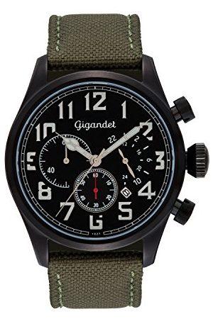 Gigandet Zegarek męski chronograf mechanizm kwarcowy z silikonowym paskiem Interceptor G4-003