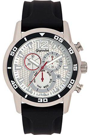 Gigandet Mężczyzna Zegarki - Zegarek męski chronograf mechanizm kwarcowy analogowy z silikonowym paskiem G14-004