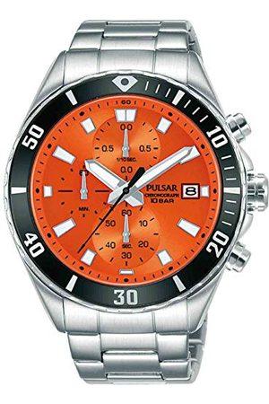 Pulsar Męski analogowy zegarek kwarcowy z bransoletką ze stali szlachetnej sport