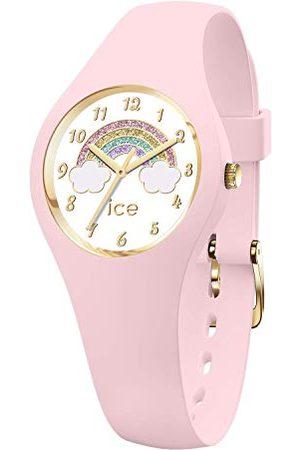 ICE-WATCH Dziewczynka Zegarki - ICE fantasia Rainbow pink - różowy zegarek z silikonowym paskiem Bardzo mały (28 mm) Extra small (28 mm) Rosa