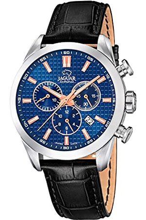 Jaguar J866/2 Męski zegarek na rękę z kolekcji Acamar, 43 mm, niebieski pasek z czarnej skóry