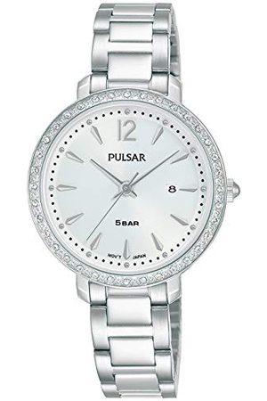 Pulsar Kwarcowy damski zegarek ze stali nierdzewnej z metalowym paskiem PH7511X1