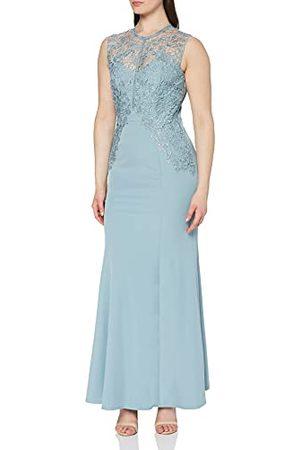 Little Mistress Damska Lizzy niebieska szydełkowana sukienka maxi