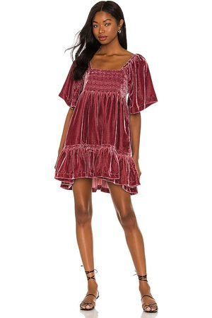 Free People Easy To Love Mini Dress in - Mauve. Size L (also in M, S, XS).