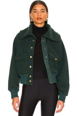 Free People Shasta Cardi Jacket in - Dark Green. Size L (also in M, S, XL, XS).
