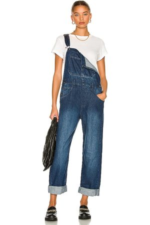 Free People Ziggy Denim Overall in - Blue. Size L (also in M, S, XS).