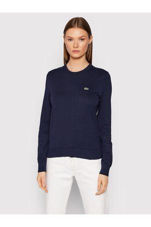 Lacoste Kobieta Swetry i Pulowery - Sweter AF7005 Granatowy Regular Fit