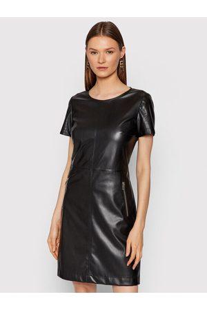 HUGO BOSS Sukienka z imitacji skóry Kallena 50459954 Regular Fit