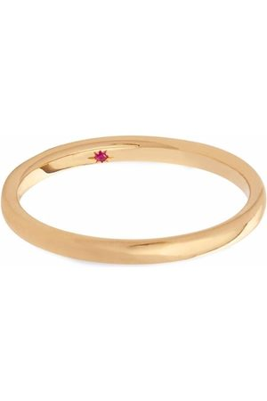 ANNOUSHKA 18kt yellow 2mm ruby wedding band ring