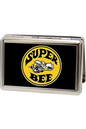 Buckle Metalowy portfel uniseks - logo Super Bee Fcg czarny/żółty/biały