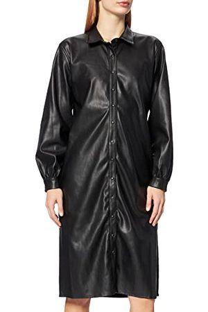 Herrlicher Damska sukienka Serana Fake Leather, Black 11, XL