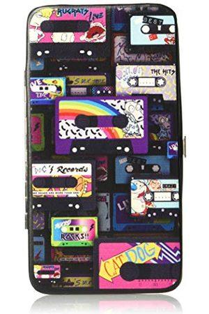 Nick Rewind Portfel - klamra zawias portfel - Nick 90's przewijanie Mash Up kaseta taśmy kolaż czarny unisex - dorośli