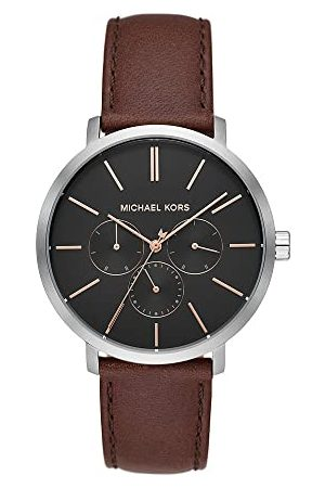 Michael Kors Męski analogowy zegarek kwarcowy ze skórzanym paskiem MK8843