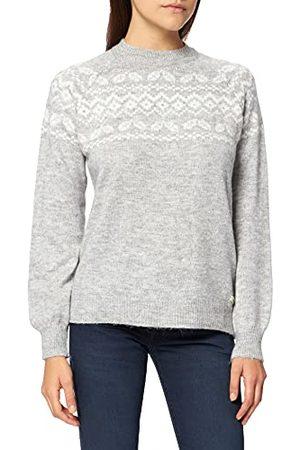 LTB Damski sweter Walade, Light Grey Mel White Pattern 12530, L