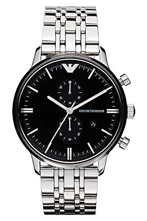 Emporio Armani Męski zegarek kwarcowy AR0389 AR0389 z metalowym paskiem