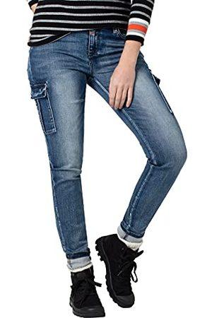 Timezone Spodnie damskie Slim Noritz, Blue Patriot Wash, 32W x 30L
