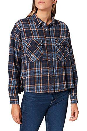 Herrlicher Damska koszula Lash Check, Blue 56, M
