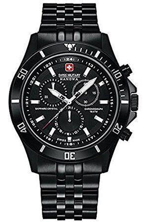 Swiss Military Hanowa Męski zegarek na rękę XL Flagship Chrono analogowy kwarcowy stal szlachetna powlekana 06-5183.7.13.007
