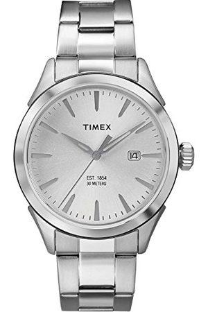Timex Męski zegarek kwarcowy z wyświetlaczem analogowym i bransoletką ze stali nierdzewnej, stal nierdzewna, Bransoletka