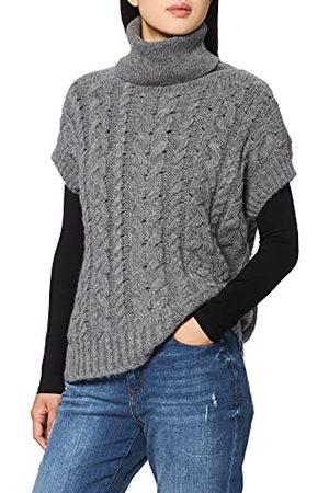 Herrlicher Damski sweter Nikita Vest Structured Wool Pullunder, Grey Melange 365, L