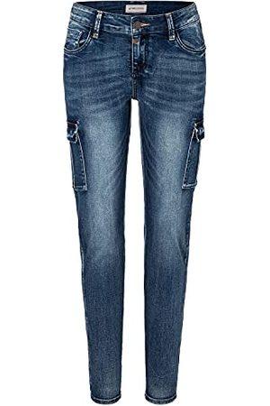 Timezone Spodnie damskie Slim Noritz, Blue Patriot Wash, 24W x 30L