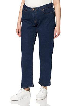 JACK & JONES Women's JJXX JXSEOUL Straight MW CC3001 NOOS Jeans, Dark Blue Denim, 28/30
